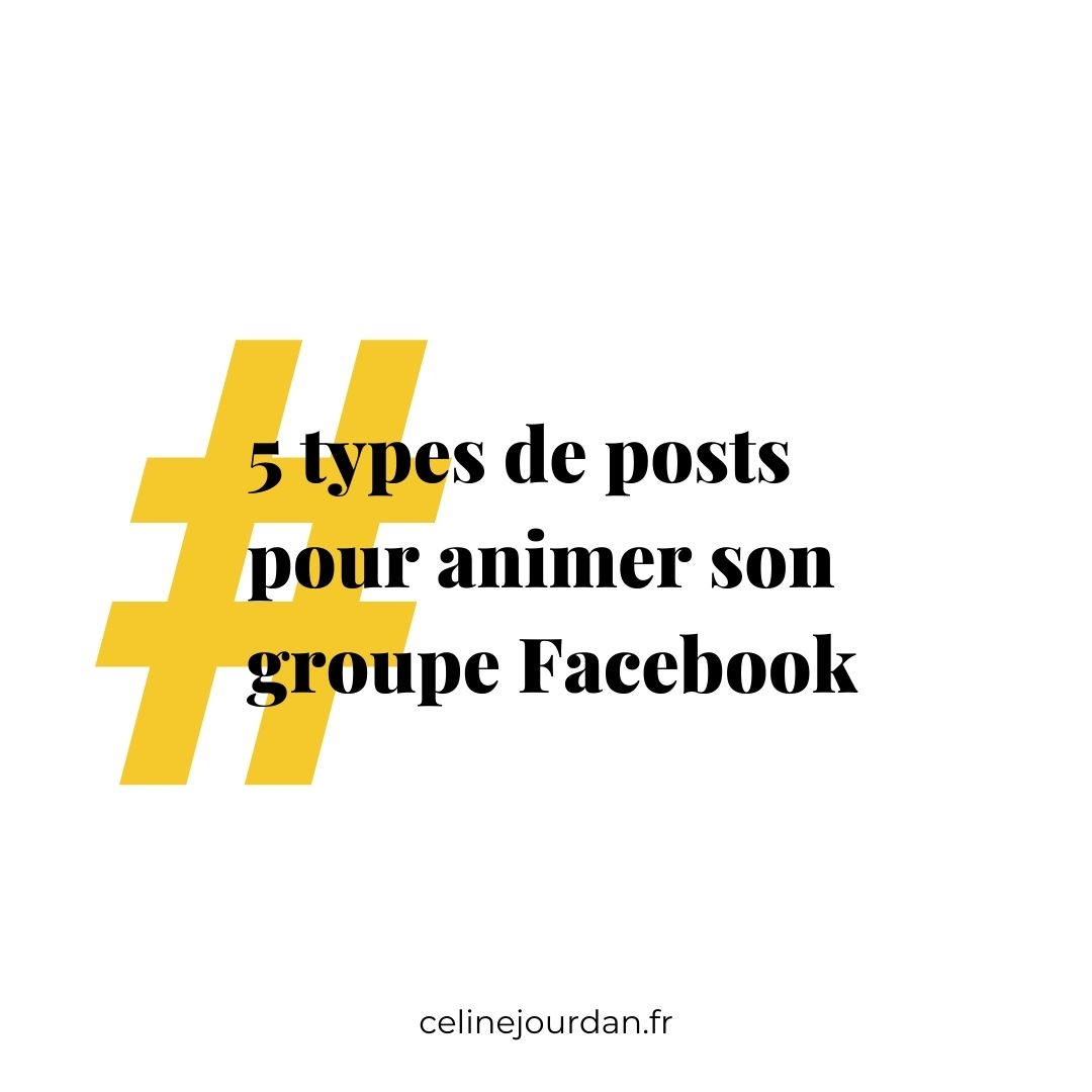 posts pour animer les groupes facebook